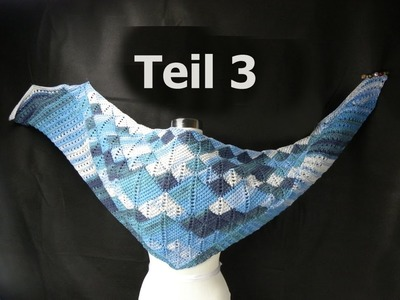 "Tuch ""Two in Tuch"" Teil 3 - Entrelac - VeronikaHug.com"