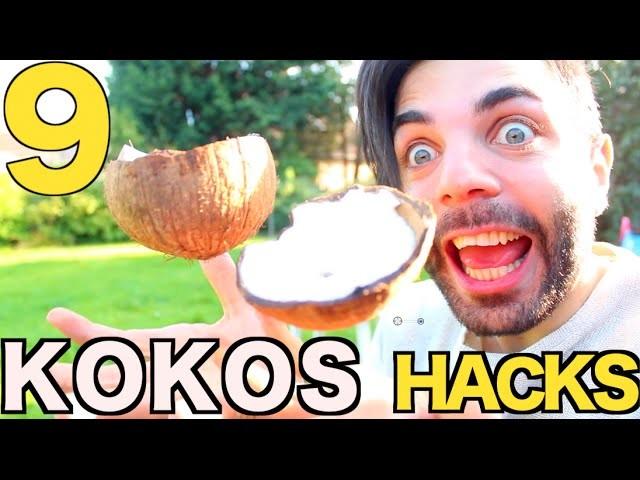 9 Kokosnuss Lifehacks