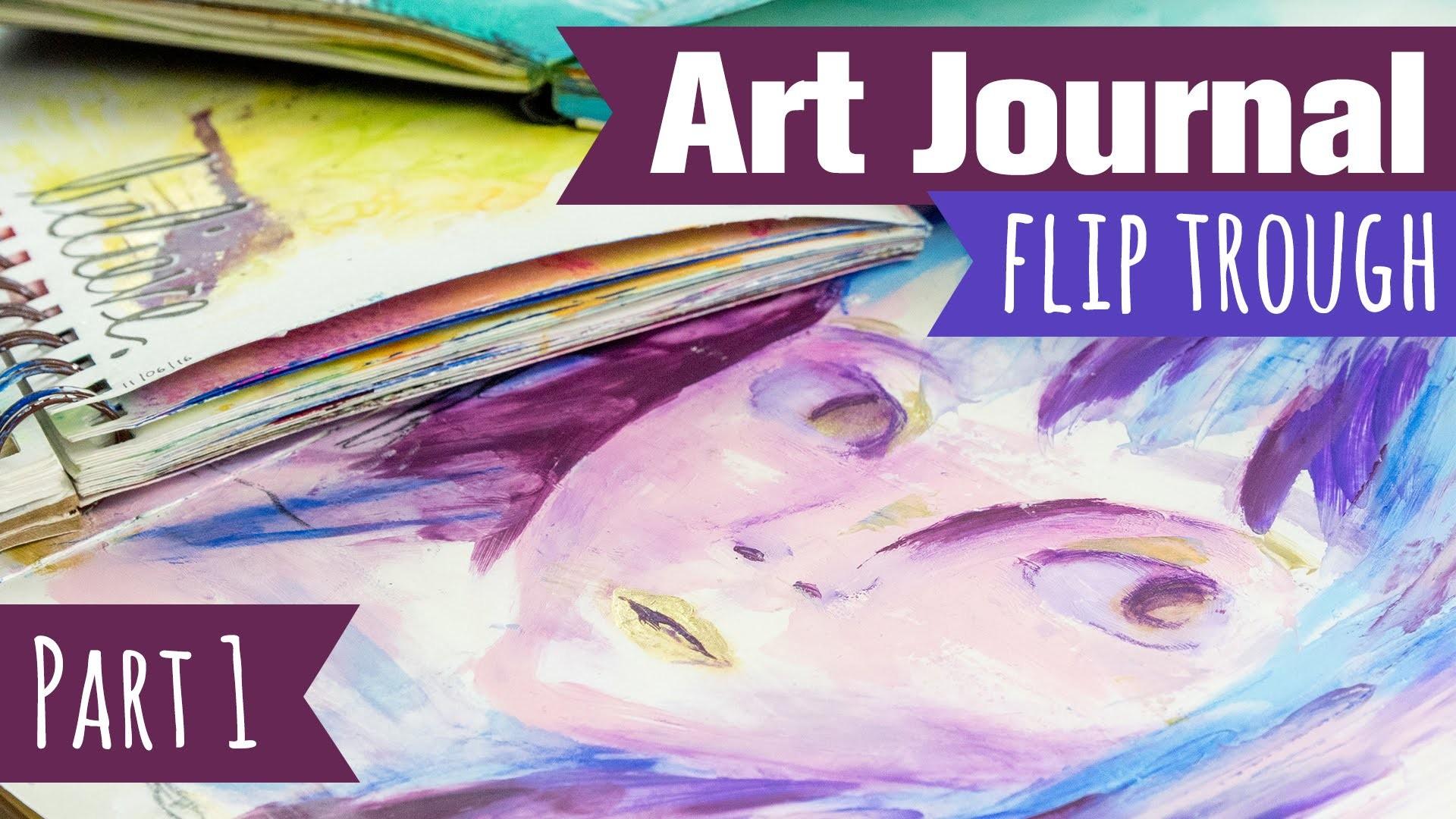[Craft Update] Meine Art Journals - Teil 1 | Flip Through