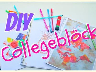 DIY Collegeblöcke für den Schulstart | MarieDIY