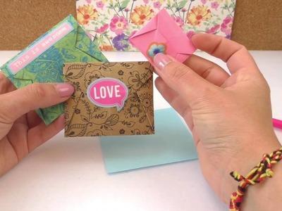 Einfachen Briefumschlag falten | Coole Origami Idee | Nachricht & Überraschung | Selbstschließend