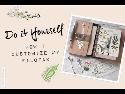 How I customize my Filofax | DIY Setup Filofax Original Nude | filolove_