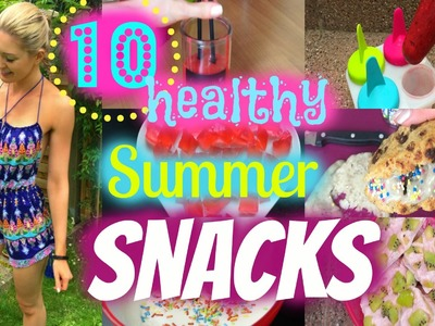 10 GESUNDE Sommer Snacks | DIY Cookie Eis, Gummibärchen