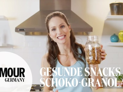 DIY gesundes Schokoladen Granola. Schoko-Müsli I healthy snacks I Treat Yourself Folge #1