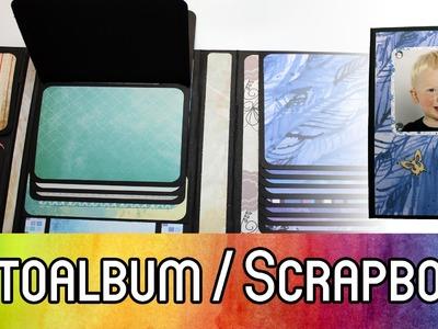 DIY Scrapbooking Tutorial: Photofolio mit Wasserfall (Fotoalbum für ca. 60 Bilder) | kreativBUNT