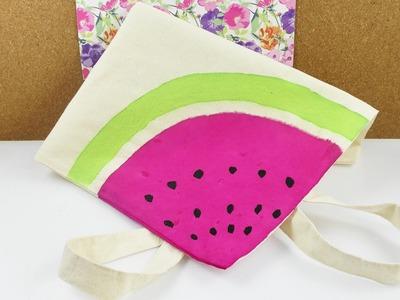DIY Wassermelonen Tasche