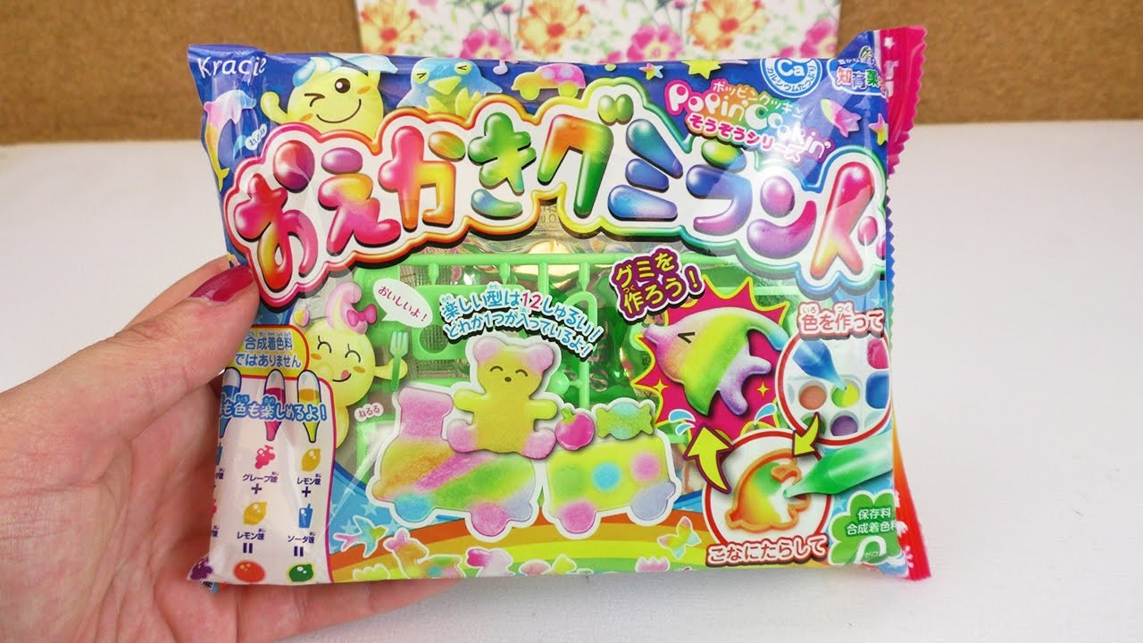 Kracie Popin' Cookin' lustige Gummitiere | DIY Candy Set | Löwe & Elephant | Geschenk Idee Japan