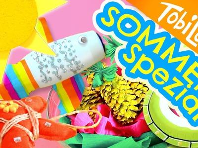 6 bastelideen für den Sommer | Sommer Spezial | Kinder DIY | Kinder basteln | Tobilotta