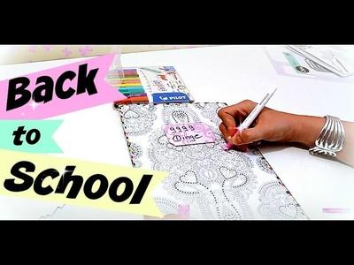 Back to school 2016 Schule | Heft mit erwachsenen Malbuch verschönern | DIY Inspiration Ideen