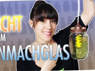Mason Jar Lampe DIY | Einmachglas I breedingunicorns | #flipdiy