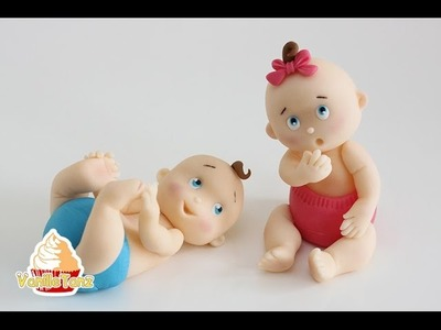 Anleitung Fondant Baby Topper