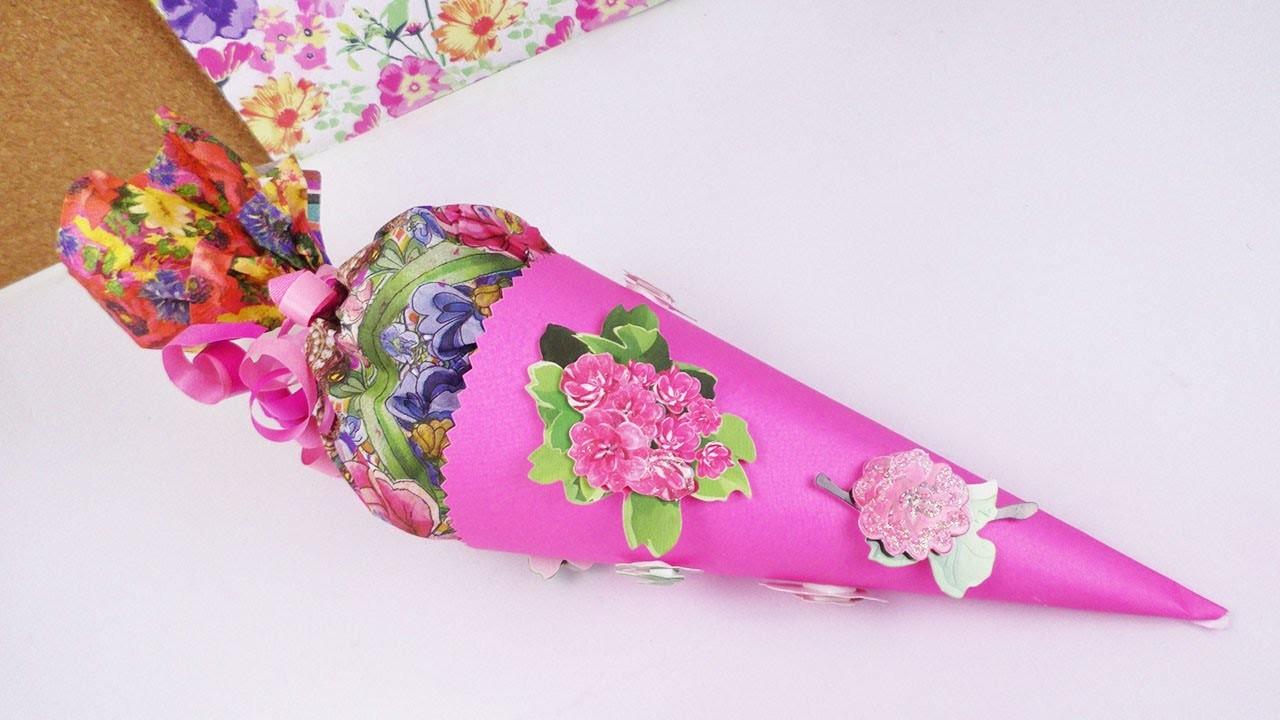 DIY Schultüte | Überraschung für den Schulstart | Schnell & einfach | Mini Idee & Süßigkeiten