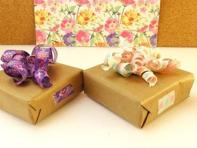 DIY Washitape Geschenk Schleifen | Schöne Deko Idee für Geschenke | Einfach & schnell mit Washi Tape