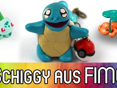 FIMO Tutorial Pokemon Schiggy | Starter mit Glumanda und Bisasam | How to Polymer Clay | kreativbunt