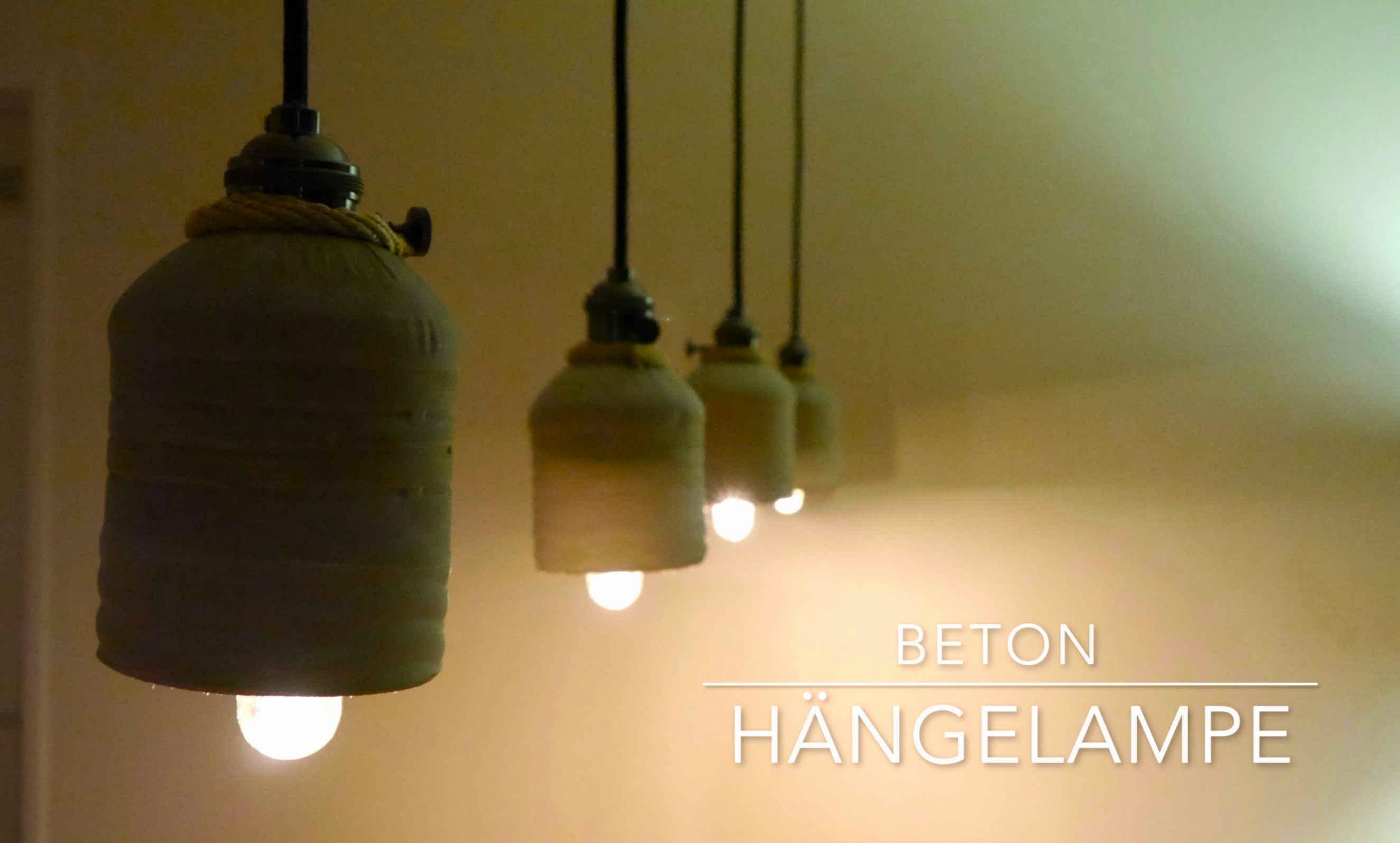 diy upcycling beton h nge lampen anleitung bonus material. Black Bedroom Furniture Sets. Home Design Ideas
