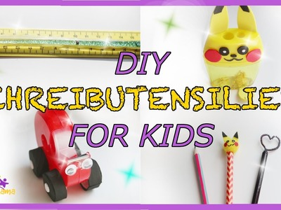 BACK TO SCHOOL - DIY Schreibutensilien for Kids (Pikachu. )! - desk ideas for kids. TäglichMama