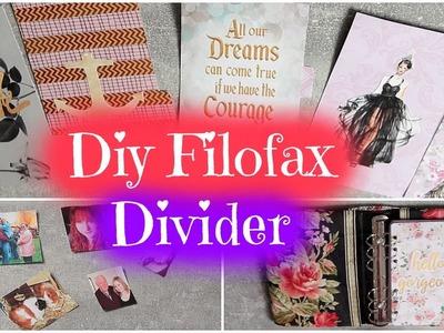 DIY FILOFAX DIVIDER | TRENNBLÄTTER | EINLAGEN SELBER MACHEN