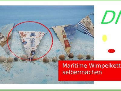 How to Sommer DEKO DIY - Maritime Wimpelkette selber machen [deutsch]