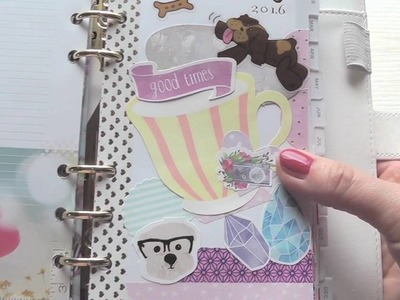 Kalender gestalten ♥ Planner SetUp | Webster's Pages Color Crush Lilac Stripes I DIY Divider I Flip