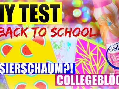 DIY BACK TO SCHOOL TEST: RASIERSCHAUM & COLLEGEBLOCK | SofiaBeautyCafe