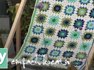 Liegestuhlbezug aus Granny Squares | DIY einfach kreativ