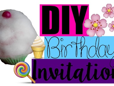 DIY Birthday INVITATION | Cupcake Style | MyLifestyle ♥