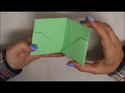 DIY: Etui Origami falten mit 5 Geheimfächern - einfach