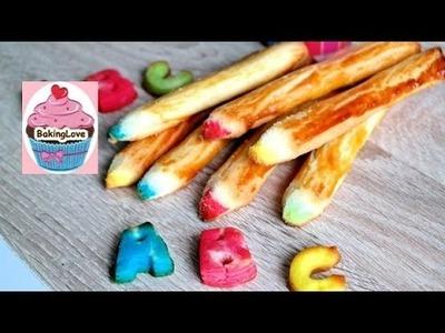 DIY ✏ Buntstift-Kekse selbstgemacht ✏ Kekse für die Einschulung ✏ 1. Schultag