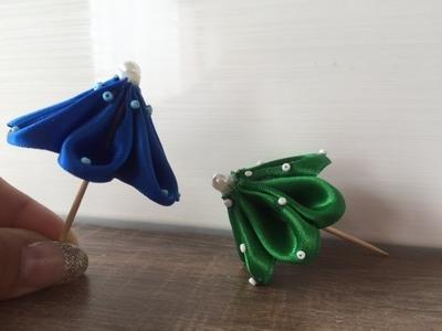 DIY Miniatur Sonnenschirm. Regenschirm, Basteln mit und für Kinder