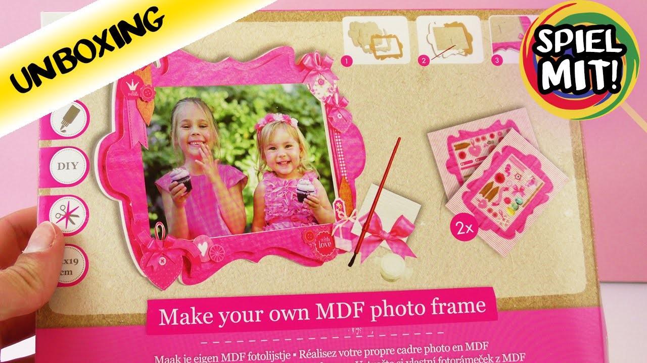 Fotorahmen aus Holz und Papierselber bastel | DIY Set für Kinder | Photo Frame mit toller Deko