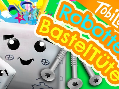 Roboter Stiftetüte basteln DIY back to school Bastelidee Kinder | Tobi Lotta & CuteBabyMiley