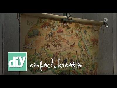 Urlaubsfotos und Landkarten zum Aufhängen | DIY einfach kreativ