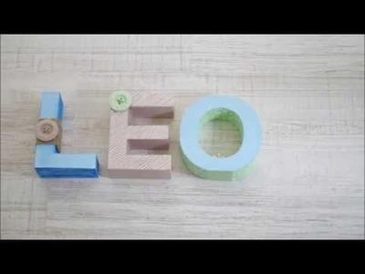 DIY - Babyzimmer - Pappbuchstaben gestalten, basteln, dekorieren - 3D letters