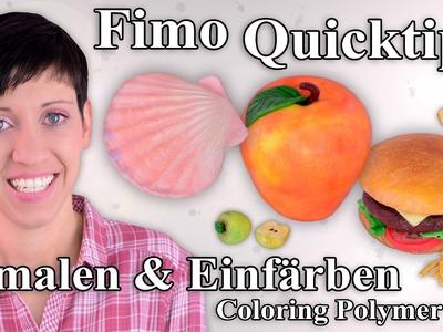 FIMO Quicktipp: Bemalen und Einfärben – Coloring Polymer Clay Tutorial [HD.DE] (EN-Sub)