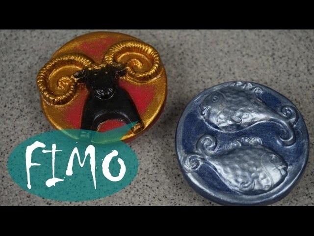 Sternzeichen ~ Fimo. Polymer clay. Tutorial