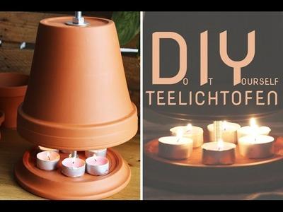 Teelichtofen selber bauen - DIY-Tischheizung - Talu.de