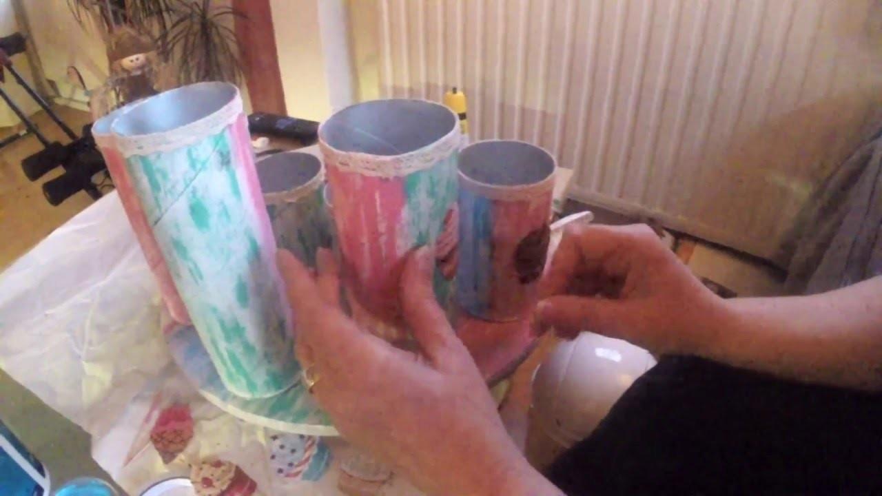 Aus Alt mach Neu Cupcake DIY Upcycling Stiftehalter Organizer
