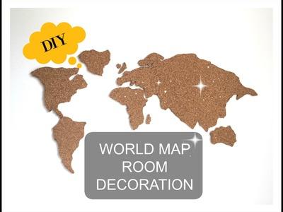 DIY WORLDMAP ROOM DECOR