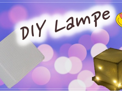 (HOW TO )LAMPE AUS BÜGELPERLEN. LAMPE SELBER MACHEN.DIY