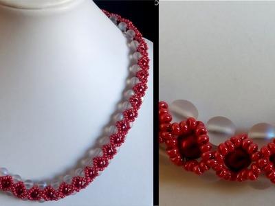 [Anleitung.Tutorial] Perlenkette mit farblichem Highlight - DIY [Perlen]