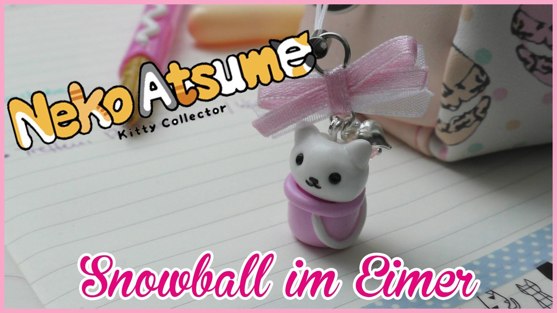 FIMO | Neko Atsume SNOWBALL als ANHÄNGER | how to | Tutorial