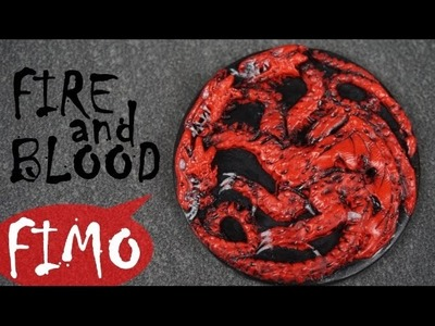 Targaryen ~ Game of Thrones ~ Fimo. Polymerclay. Tutorial