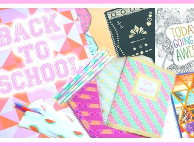 BACK TO SCHOOL DIY (Hefte, Etui, Stifte,. ) ⎮weeklyMel