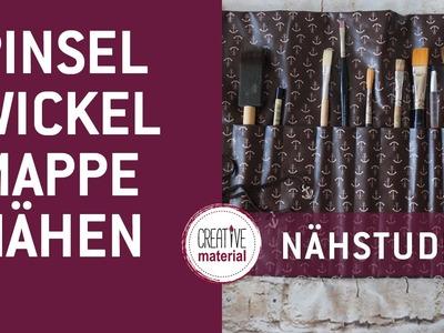 Nähen | DIY Wickelmäppchen für Pinsel, Kosmetikartikel und Stifte