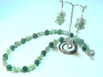 DIY 2 Zug Kette mit Perlen und Stein Splitter selber basteln