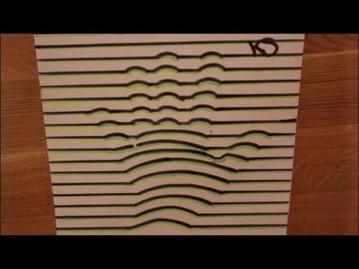 DIY: 3D Illusion Hand. Bild.  Zeichnung