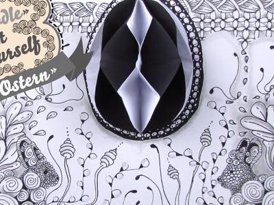 DIY Osterkarte 3D Pop-Up Zentangle® Doodle basteln zeichnen und entspannen (Zeitraffer)