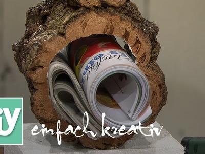 Rustikaler Zeitschriftenhalter aus Kork | DIY einfach kreativ