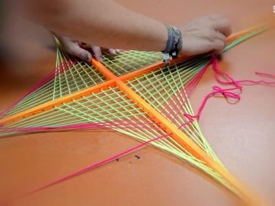 """DIY Making Of Schwarzlicht Stringart Yarn Art Deko """"Papagei"""" by schwarzlicht.de"""