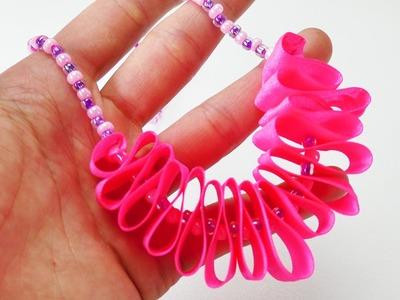 Coole Statementkette selber machen | Schmuck mit Perlen herstellen DIY | Für Kinderals Geschenk